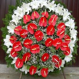 Smuteční kytice 14